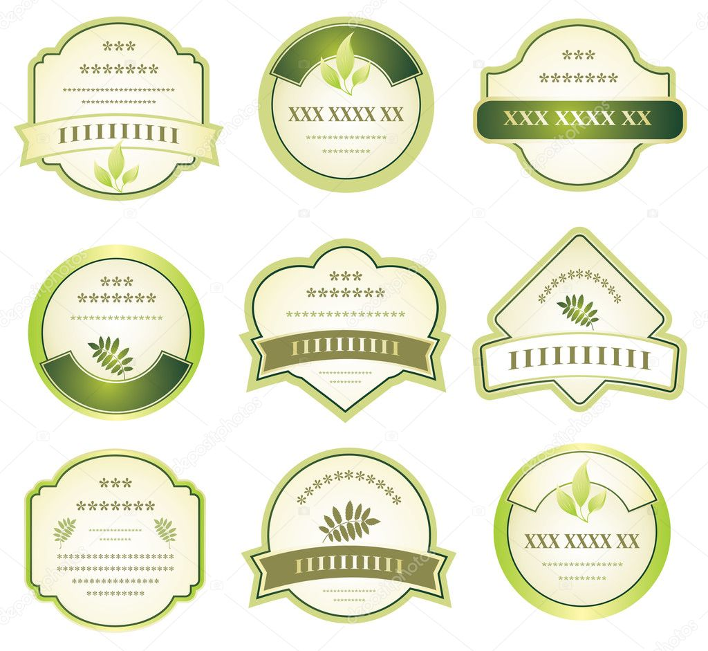 Set of labels