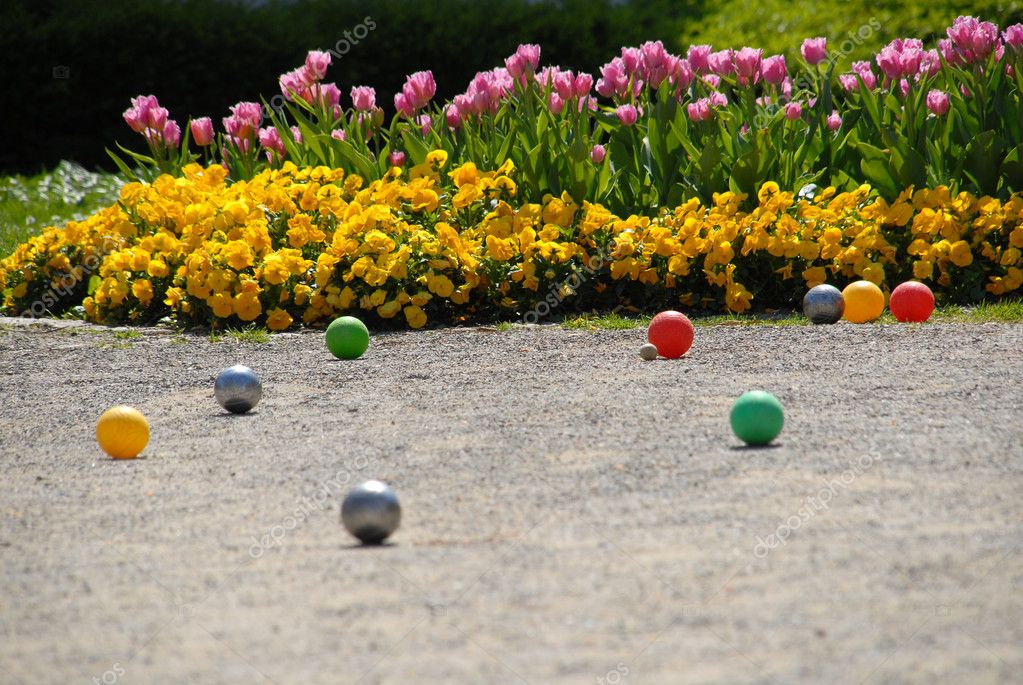 Flowers and balls