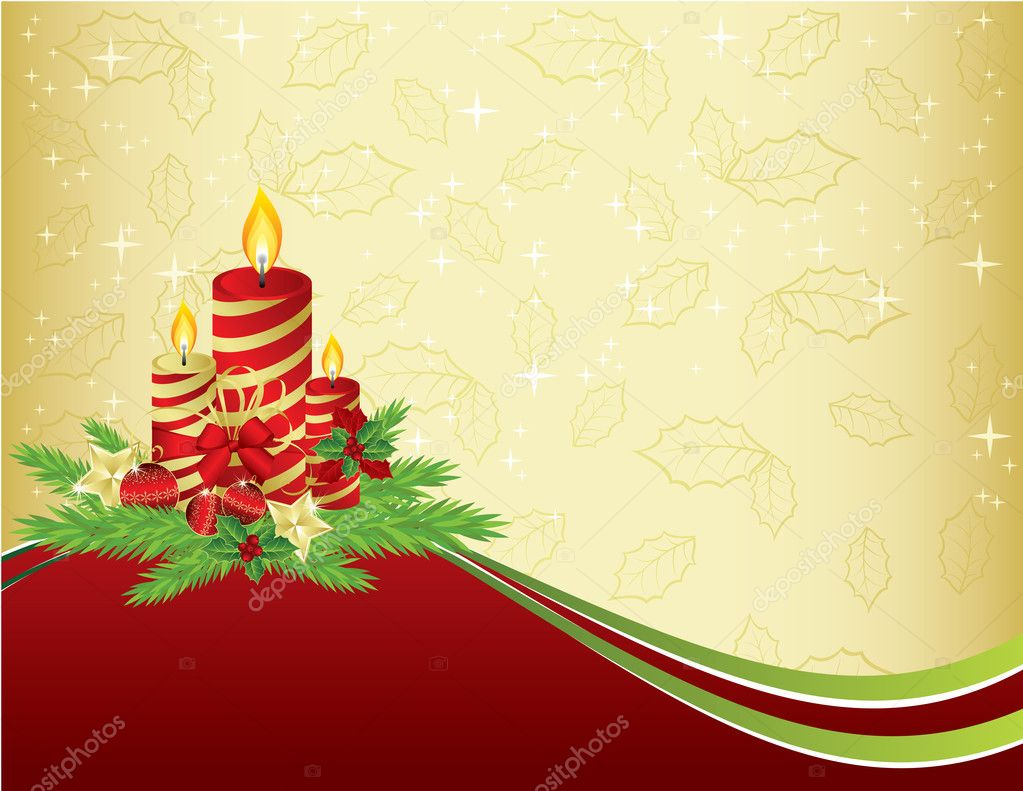 Red and gold Christmas background — Stock Vector © almoni #1946872