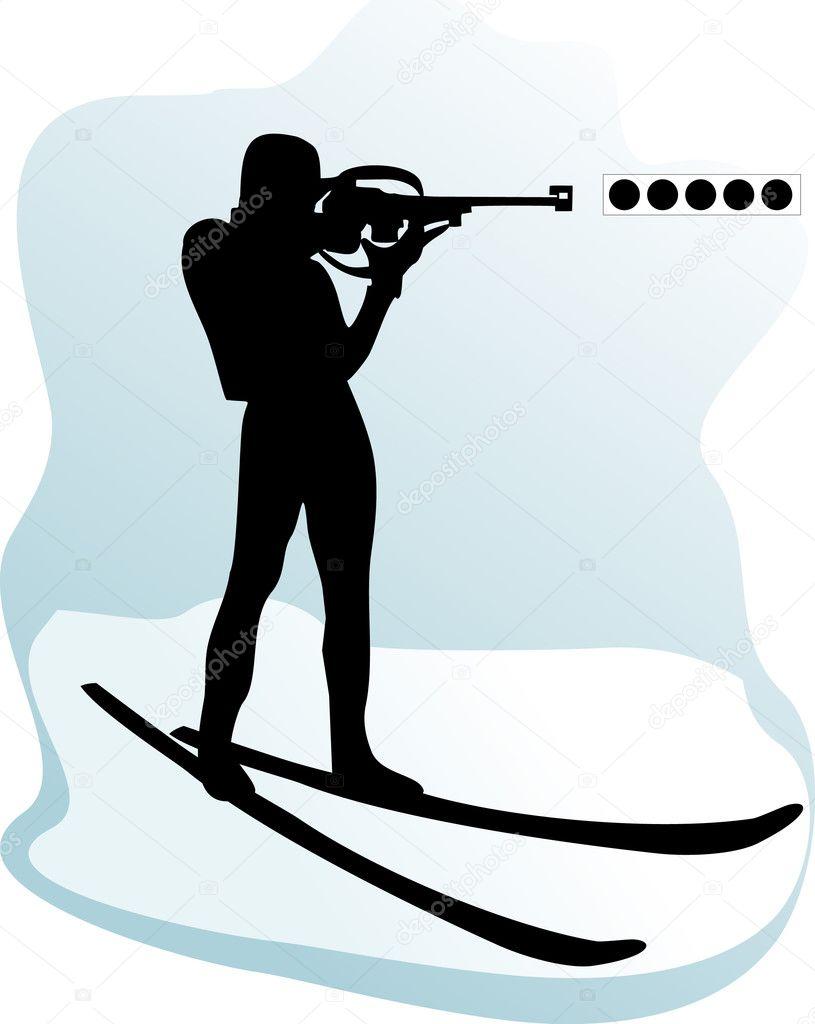 Картинки биатлонистов черно белые