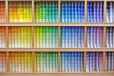Paint chip color spectrum