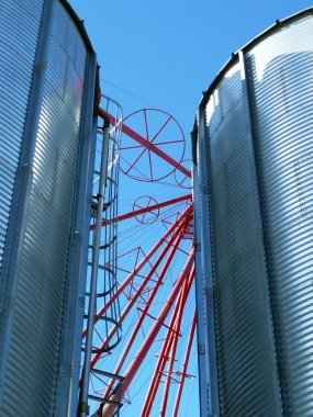 Feed mill silos