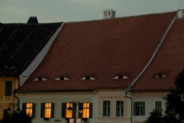 Old house roof in Sibiu