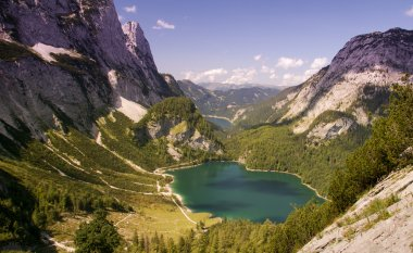 Mountain lake and limestone