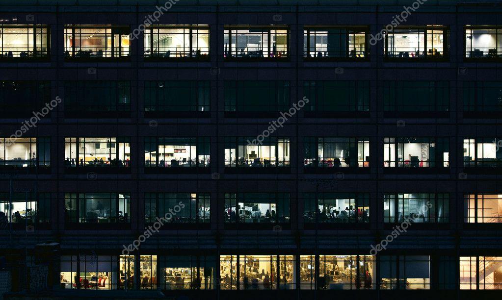 Oficinas vac as por la noche foto de stock joingate for Oficinas enterprise