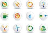 pulsanti icona energia elettrica