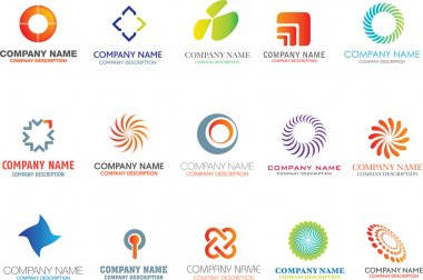 Set of corporate logos symbols and marks stock vector