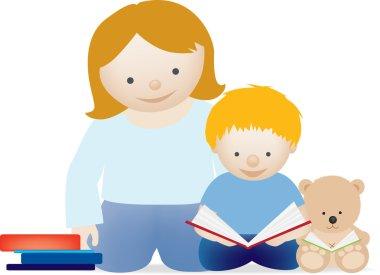 Mum and child read