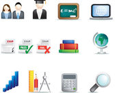 oktatás ikon készlet