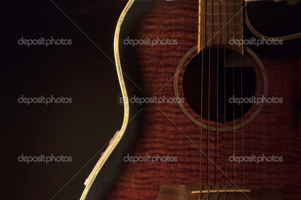 Guitar on black