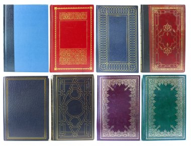 Big set of old book covers front view stock vector