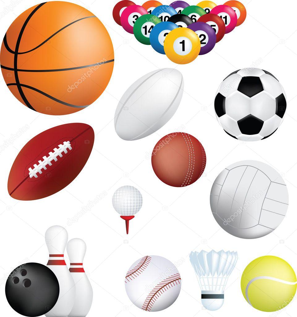 38579ac22 Ilustração de Deatiled de uma série de esportes largo de mundo — Foto de ...