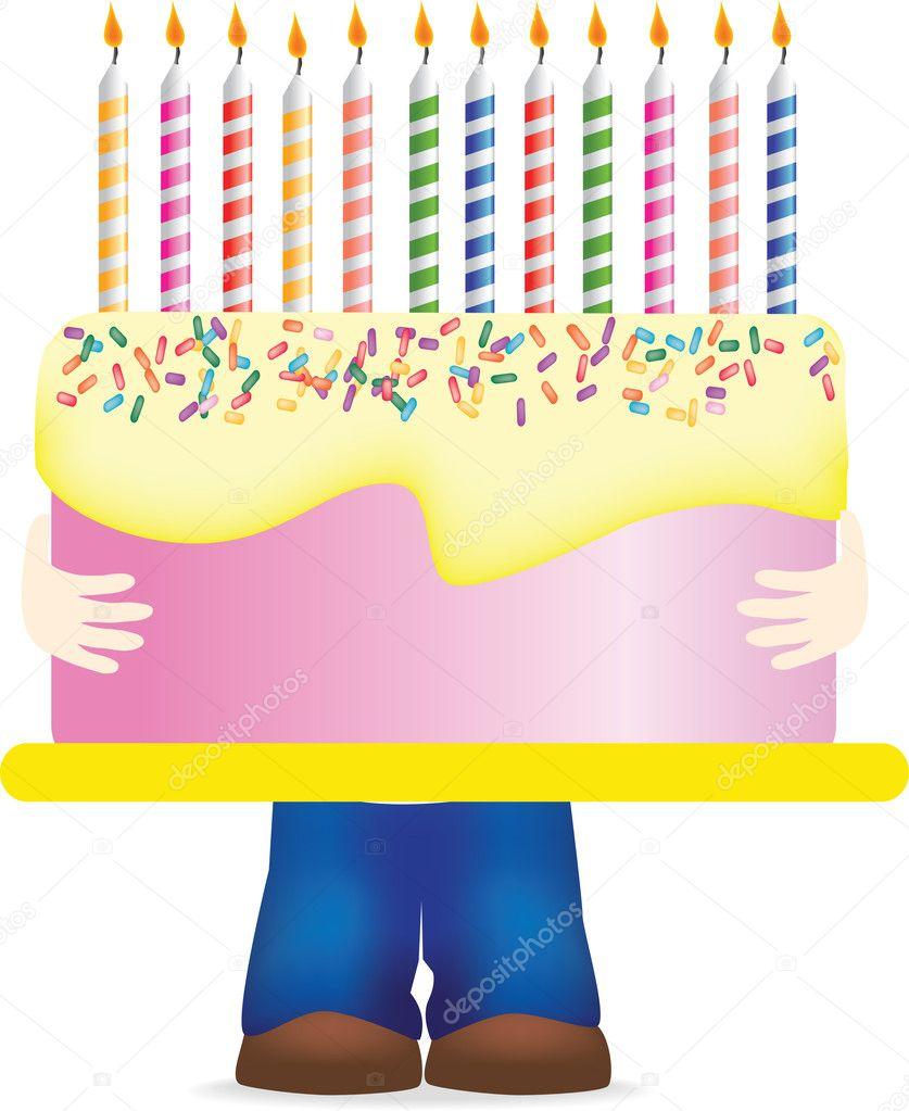 Carrying Huge Birthday Cake Stock Photo Joingate 2206093
