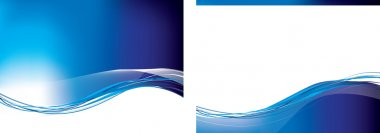 Blue swoosh set of 2 backgrounds