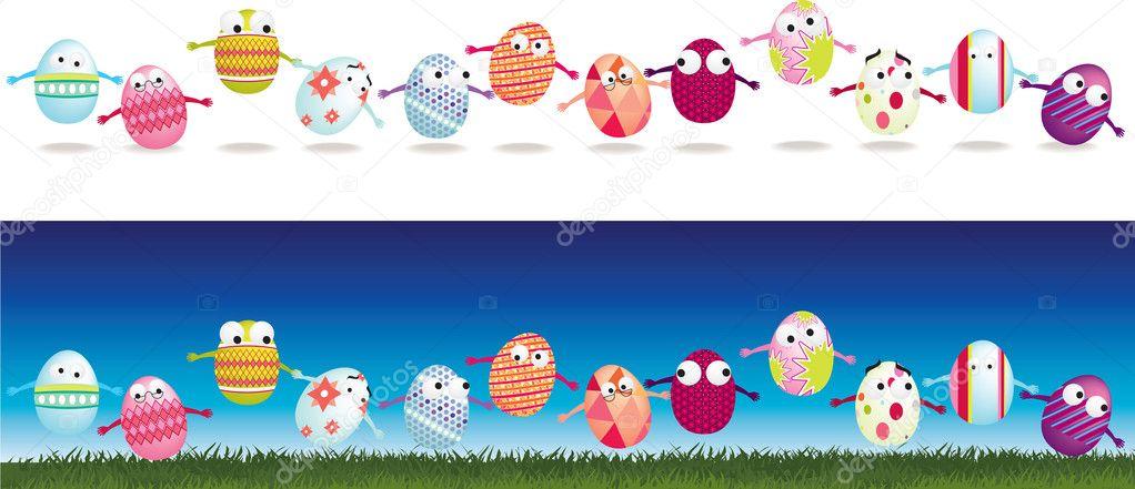 Personaggi dei cartoni animati di uovo pasqua — foto
