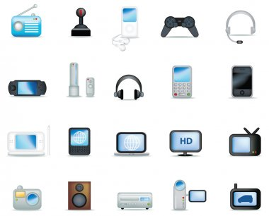 Detailed electronic icons