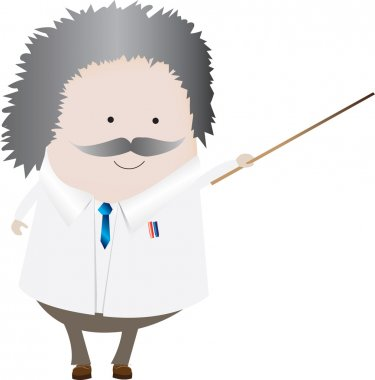 Professor isolated
