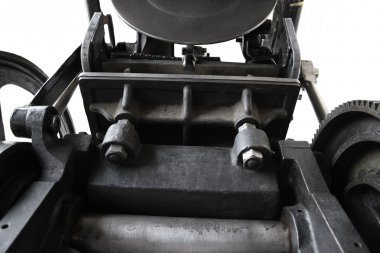 View of an antique printing press