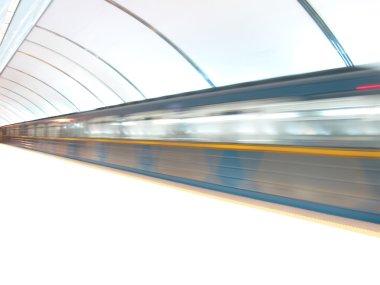 White underground railway station