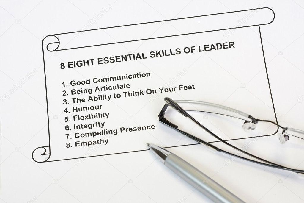 ocho habilidades esenciales del líder — Foto de stock © fiftycents ...