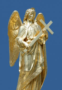 Golden statue of angel, Zagreb cathedral