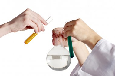 Chemical experiment in laboratory