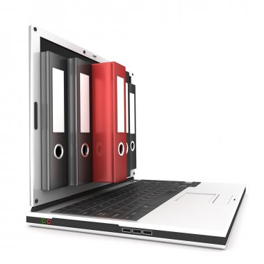 Laptop and document