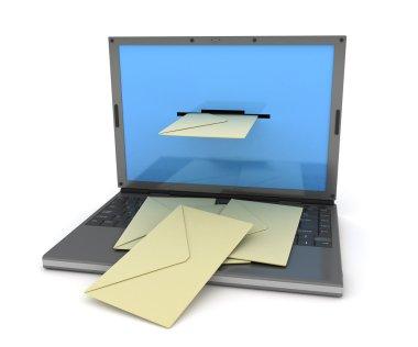 Laptop e-mail black