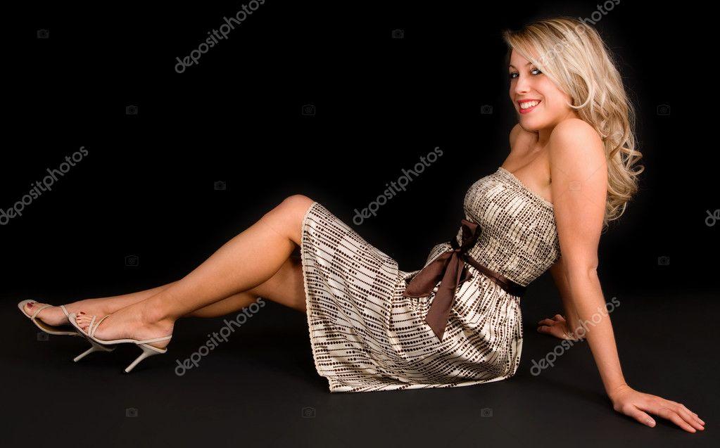 Beautiful Blonde Relaxing