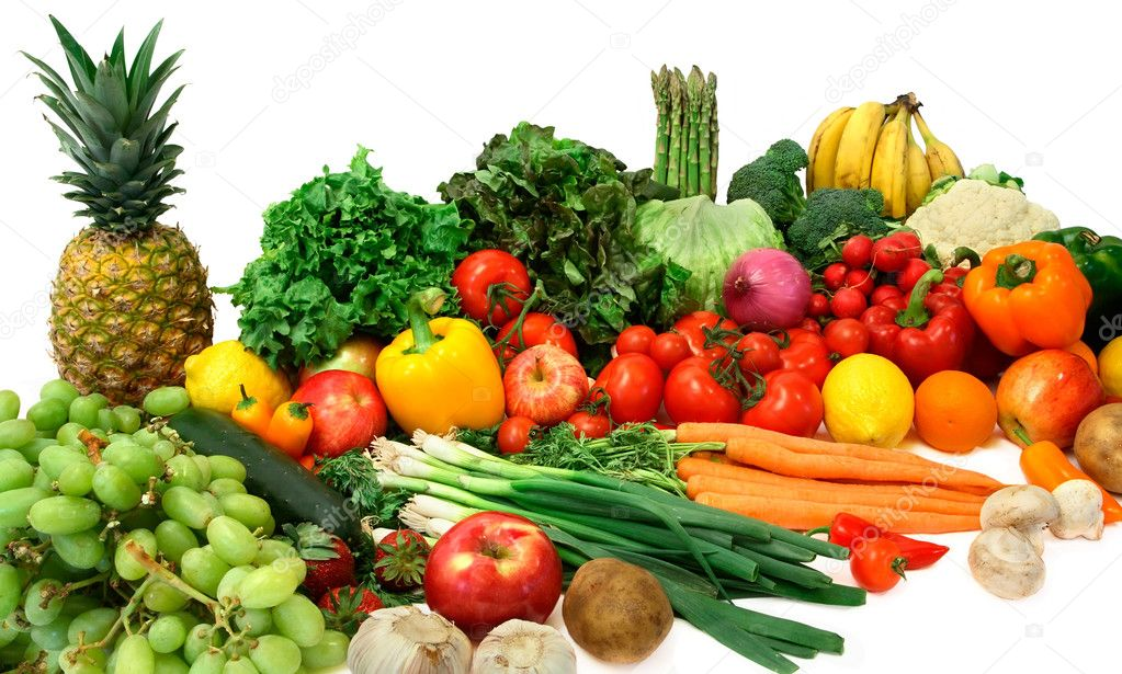 Arrangement of Vegetables and Fruits