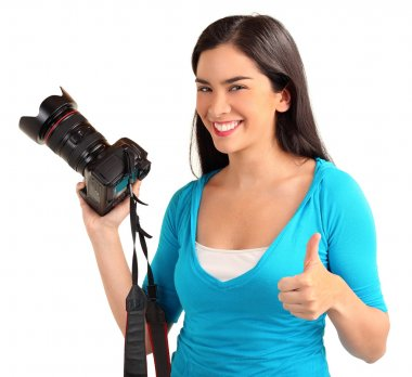 Happy Young Lady Photographer