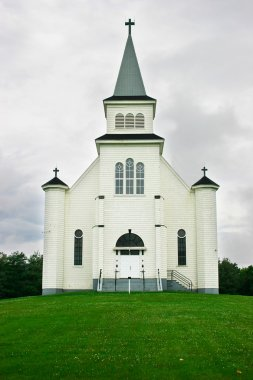 Country Church Under a Stormy Sky