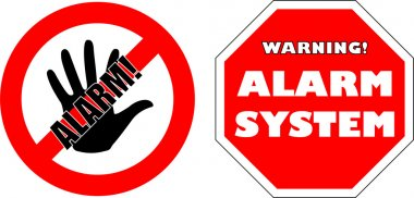 Protected by alarm system stickers