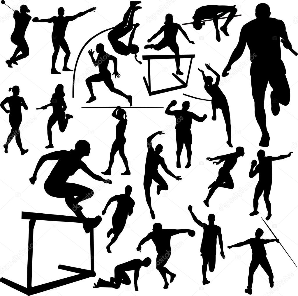Вектор легкая атлетика