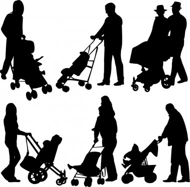 With babies in stroller