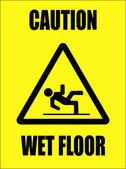 Pozor - Mokrá podlaha znamení