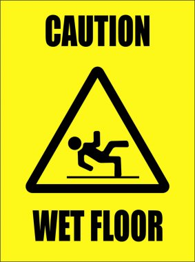 Caution - wet floor sign