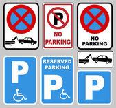 Fotografie parking and no parking