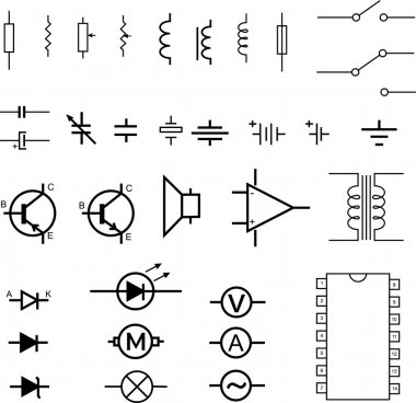 Electronic symbols - vector
