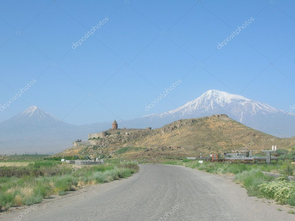 Monastery and mount ararat, Armenia