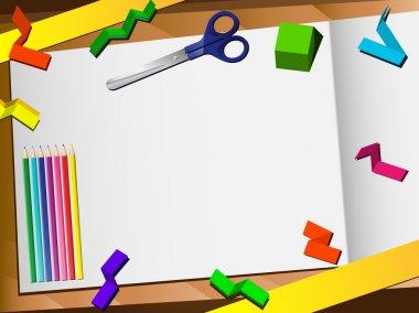 3D Paper Cut Desktop Background.