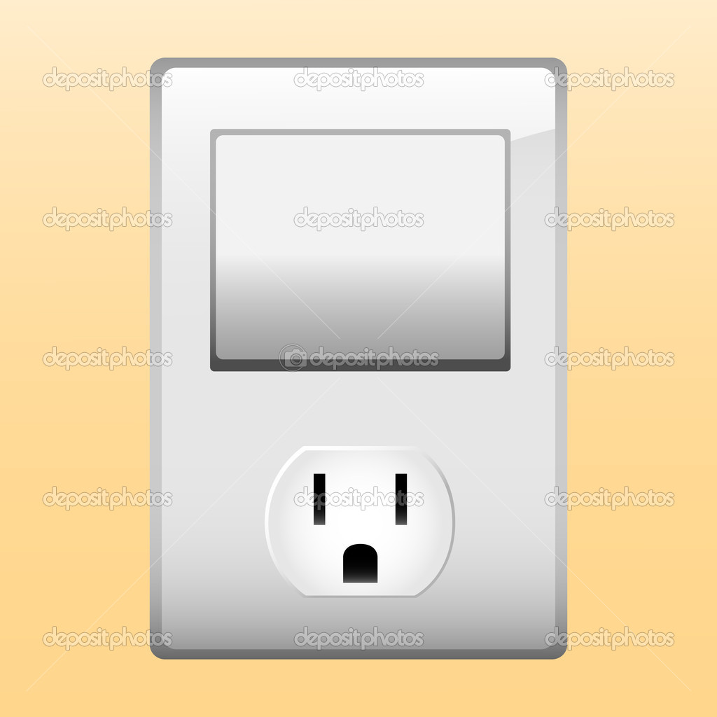 Electric outlet and light switch. — Stock Vector © gubh83 #2291819