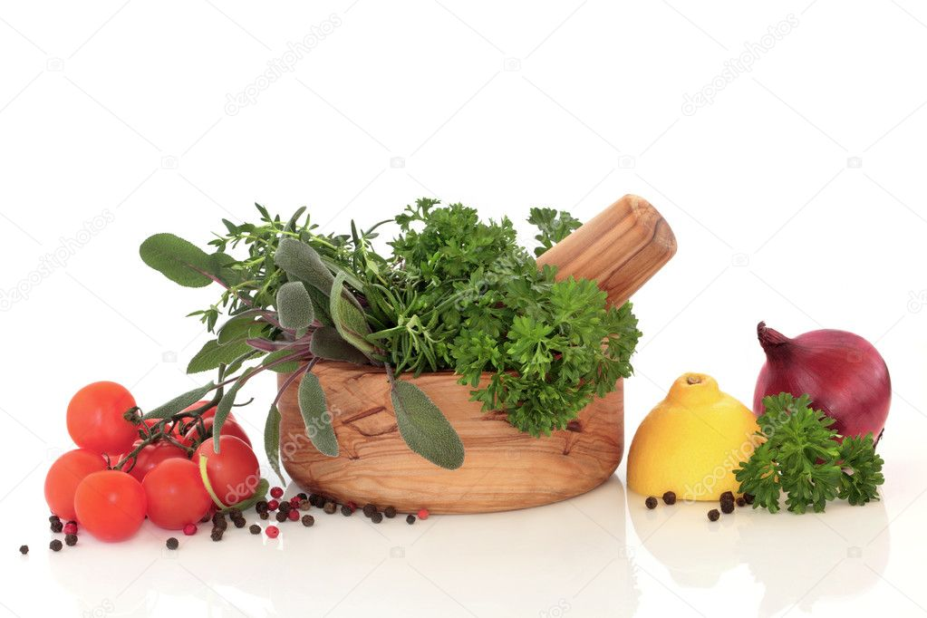 Herbs and Vegetable Selection