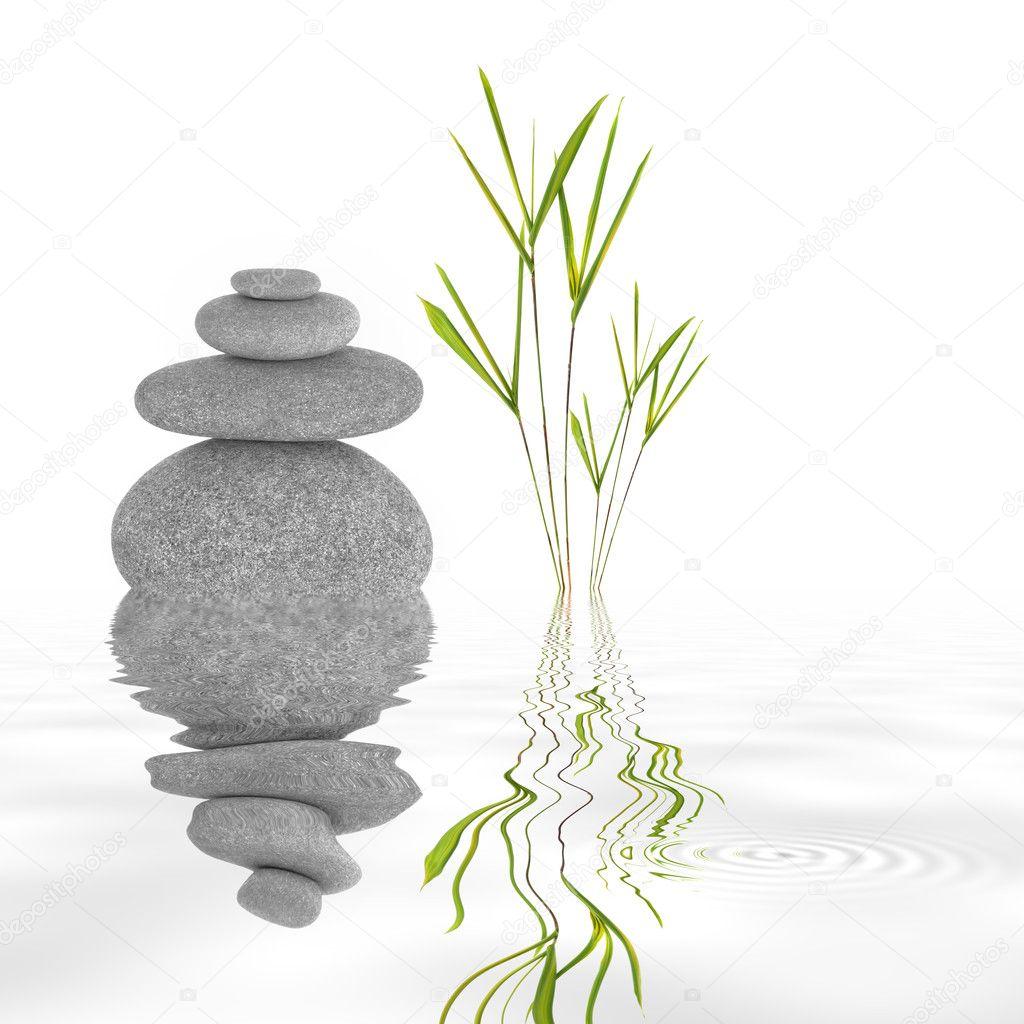 Zen garden tranquility stock photo marilyna 2079936 - Salle de bain zen bambou ...