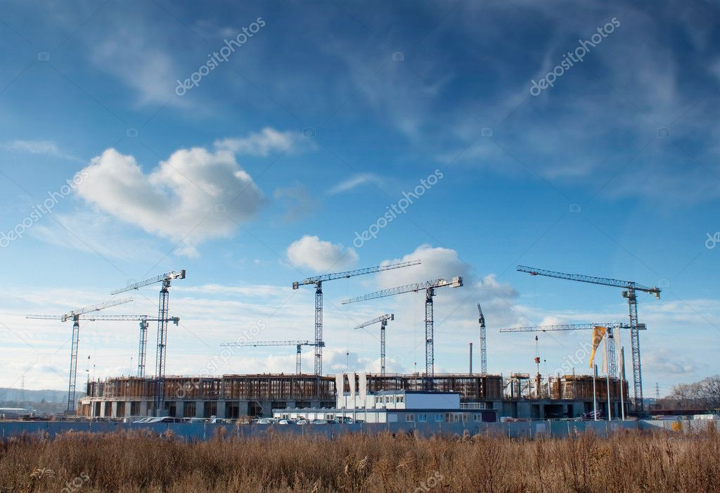 Building site of the Baltic Arena, football stadium - Gdansk, Poland