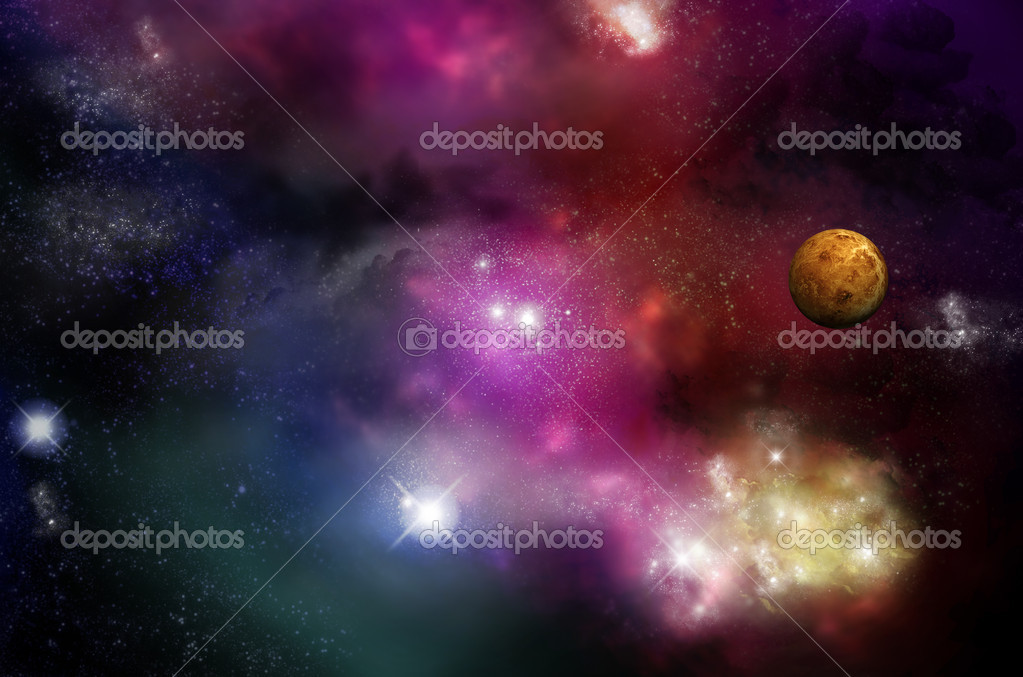 Universe - starfield and nebulas
