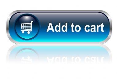 Shopping cart icon, button