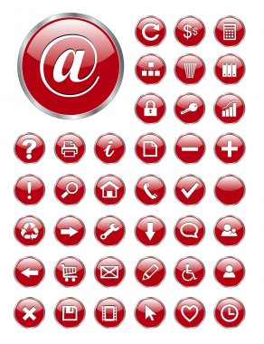 Web icons, buttons