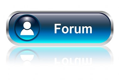 Forum icon, button