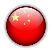 China flag button, vector